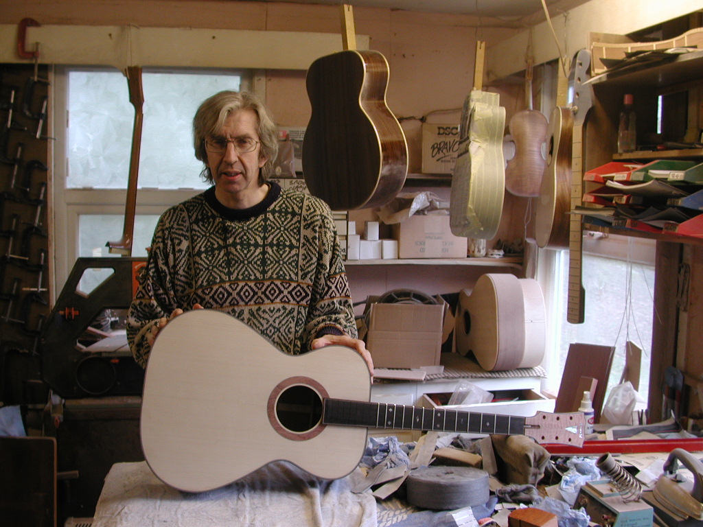 Alan Arnold + Acoustic Guitar mid-build